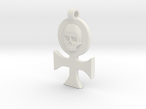Order of Our Martyred Lady Pendant in White Natural Versatile Plastic