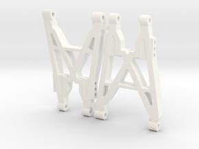 NIX91-Race Rear Arms SLS in White Processed Versatile Plastic