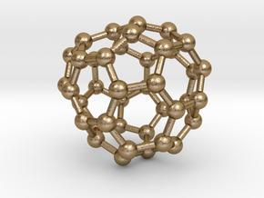 0132 Fullerene C40-26 c1 in Polished Gold Steel