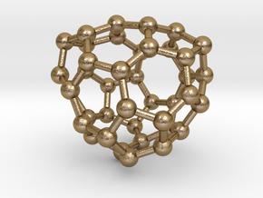 0133 Fullerene C40-27 c2 in Polished Gold Steel