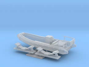 1/72 scale 16.73 feet RHIB Launch in Smooth Fine Detail Plastic