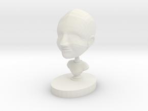 ShapeMe in White Natural Versatile Plastic