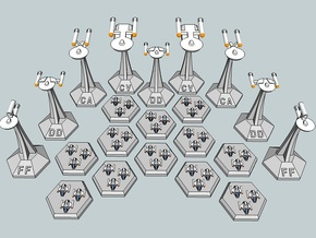 MicroFleet TOS Coalition Carrier Group (21pcs) in White Natural Versatile Plastic