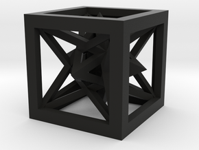 Intersected Pyramids in Black Natural Versatile Plastic