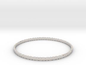 Thin Pebble Bangle in Rhodium Plated Brass: Small