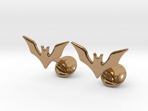 Batman Beyond Cufflinks in Polished Brass