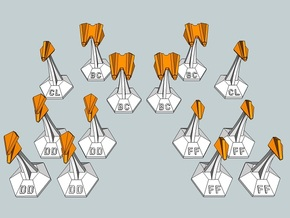 MicroFleet Webbian Fast Attack Group (14pcs) in White Natural Versatile Plastic