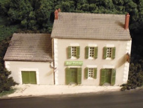 Cafe 2 - Roof - Nm - 1:160 in Smooth Fine Detail Plastic