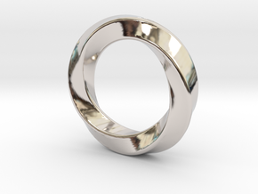 Pendant Ring Whirl in Rhodium Plated Brass