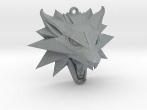 The Witcher 3 Medallion (Custom Design) in Polished Metallic Plastic