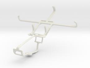Controller mount for Xbox One & Lava Iris Fuel 60 in White Natural Versatile Plastic