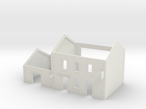 Cafe2 - walls - Nm - 1:160 in White Natural Versatile Plastic