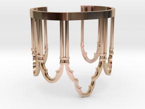 Venetian Window in 14k Rose Gold Plated Brass