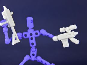 ModiBot 'Recon' System Firearm Set in White Strong & Flexible