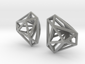 Twisted Triangle Earrings in Metallic Plastic