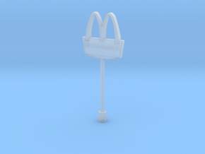 McDonalds pole-3cm (n-scale)  in Smooth Fine Detail Plastic