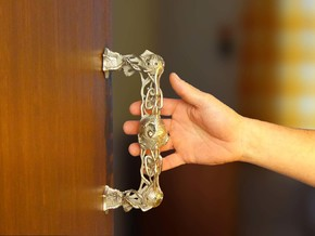 Dragon pull doorhandle no.1 in Stainless Steel