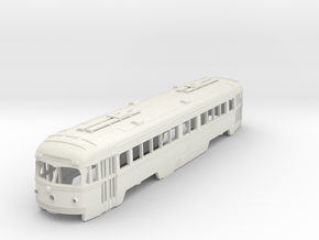 S Scale Double-End PCC Red Arrow Trolley Body in White Natural Versatile Plastic