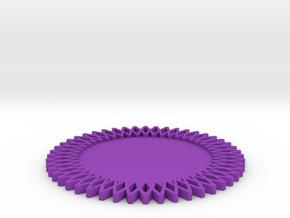 Gear Coaster in Purple Processed Versatile Plastic