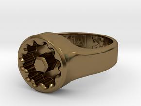 US9.5 Ring XVIII: Tritium (1.5x6mm Vials) in Polished Bronze