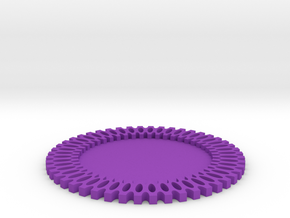 Maker Coaster in Purple Strong & Flexible Polished
