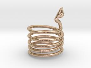 Snake Ring in 14k Rose Gold