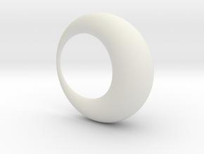 0052 Antisymmetric Torus (p=1.0) #001 in White Natural Versatile Plastic