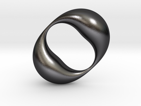 0054 Antisymmetric Torus (p=2.0) #003 in Polished and Bronzed Black Steel