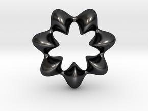 0066 AntisymmetricTorus (p=7.0) #009 in Polished and Bronzed Black Steel
