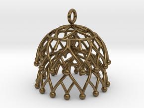 Lotus Jhumka - Indian Bell Earrings in Polished Bronze