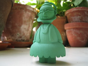 Kathakali - Indian-vidual Indian style figurine in Green Processed Versatile Plastic