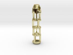 Tritium Lantern 2B (Silver/Brass/Plastic) in 18K Gold Plated