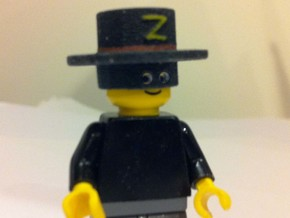 zorro hat for LEGO (3D painted) in Full Color Sandstone