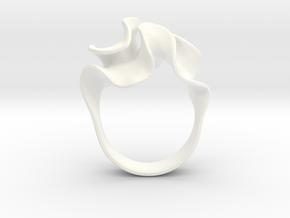 Micro Flora Ring in White Processed Versatile Plastic: 7 / 54