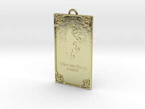 Game of Thrones - Mormont Pendant in 18k Gold Plated Brass