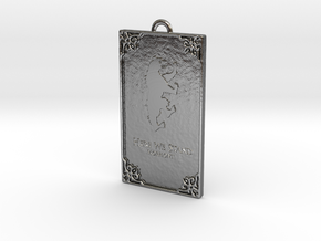 Game of Thrones - Mormont Pendant in Fine Detail Polished Silver