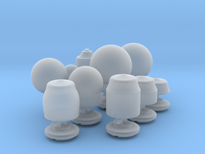 O scale-ish Street Lamps in Smooth Fine Detail Plastic