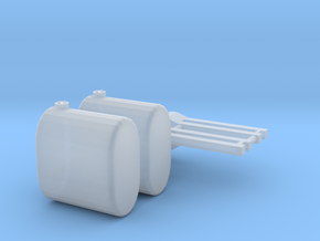 1/64 Brackets And saddle tankTanks in Smoothest Fine Detail Plastic