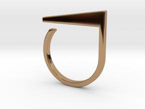 Adjustable ring. Basic model 2. in Polished Brass