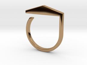 Adjustable ring. Basic model 3. in Polished Brass