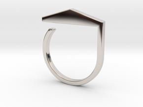 Adjustable ring. Basic model 3. in Platinum