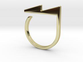 Adjustable ring. Basic model 5. in 18k Gold Plated Brass