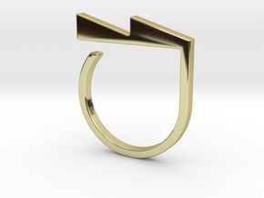 Adjustable ring. Basic model 6. in 18k Gold Plated Brass