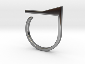 Adjustable ring. Basic model 7. in Fine Detail Polished Silver