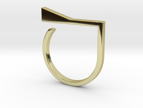 Adjustable ring. Basic model 8. in 18k Gold Plated Brass