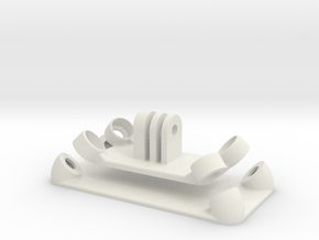 Anti-Vibration GoPro Mount in White Natural Versatile Plastic