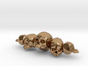 Skull Bracelet in Polished Brass