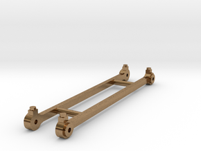 Coupling rods for GER F 4, 5 and 6 class tanks in Natural Brass