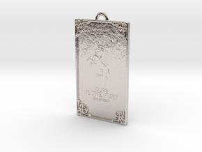 Game of Thrones - Baratheon Pendant in Rhodium Plated Brass
