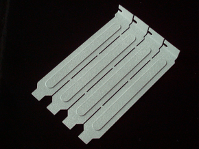 Computer Expansion Slot Cover Plates in Metallic Plastic